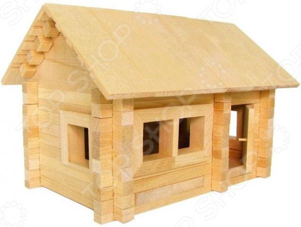 Конструктор деревянный Теремок «Избушка: Три медведя» К583