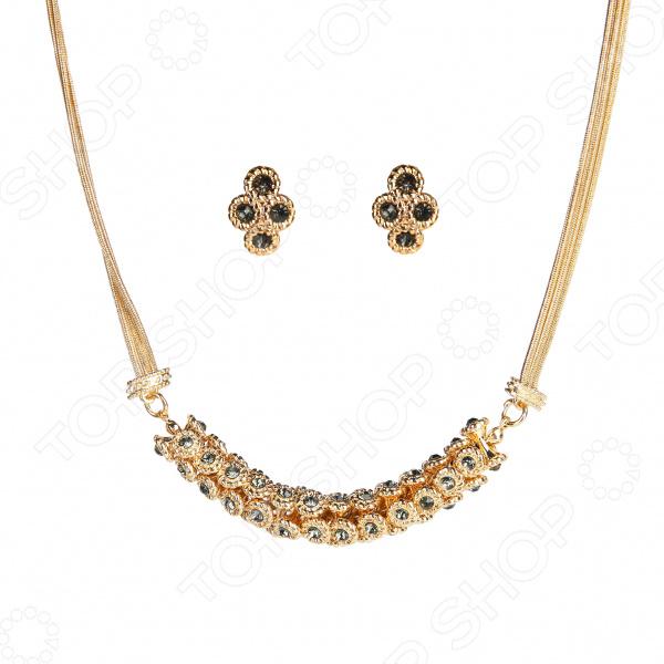 Ожерелье и серьги Laura Amatti «Романтика»
