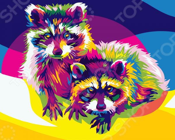 Набор для рисования по номерам Color Kit «Радужная пара»