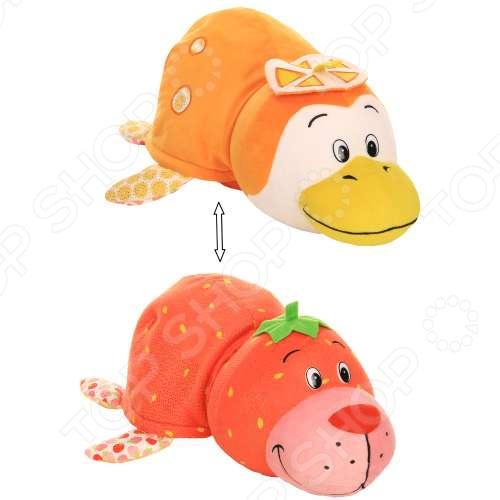 Мягкая игрушка ароматизированная 1 Toy большая «Вывернушка 2в1: Морской котик-Пингвин» 1toy вывернушка ням ням 2 в 1 морской котик с ароматом клубники пингвинчик с ароматом апельсиновой газировки 40 см т13922