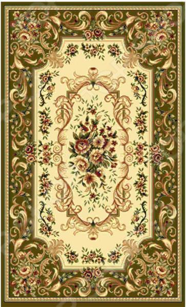 Ковер прямоугольный Kamalak tekstil «Райский сад». Цвет: зеленый - артикул: 1602567