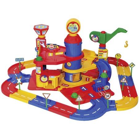 Купить Набор игровой для мальчика Wader «Паркинг 3-уровневый с дорогой и автомобилями»