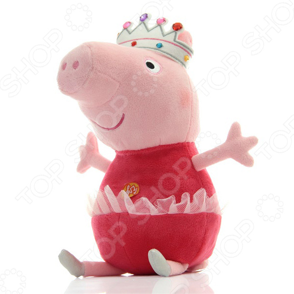 Мягкая игрушка интерактивная Peppa Pig «Пеппа балерина» мягкие игрушки peppa pig мягкая игрушка пеппа с игрушкой 40 см свинка пеппа