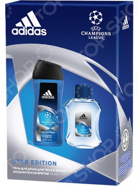 Набор мужской: лосьон после бритья и гель для душа Adidas UEFA Star Edition недорого