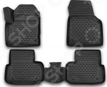 Комплект 3D ковриков в салон автомобиля Novline-Autofamily Land Rover Discovery Sport 2014 коврики 3d в салон novline land rover discovery sport 2014 полиуретан 4 шт nlc 3d 28 17 210