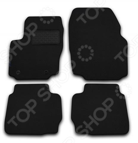 Комплект ковриков в салон автомобиля Novline-Autofamily Peugeot 3008 2008 универсал. Цвет: черный комплект ковриков в салон автомобиля novline autofamily opel insignia 2008 седан универсал хэтчбек цвет черный