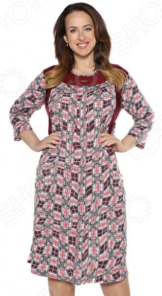 Платье Лауме-Лайн «Стильная классика». Цвет: бордовый