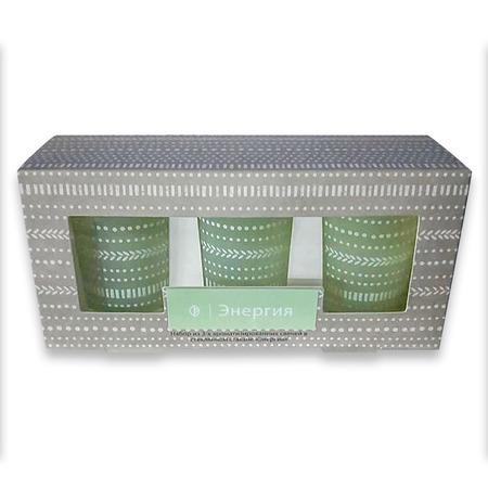 Купить Набор из 3-х ароматизированных свечей в стеклянном стакане