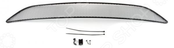 Сетка на бампер внешняя Arbori для Ford Focus III, 2015. Цвет: черный сетка на бампер внешняя arbori soty для ford mondeo 2015