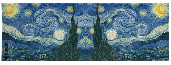 Обложка для студенческого билета Mitya Veselkov «Ван Гог. Звездная ночь» блокнот в пластиковой обложке ван гог звёздная ночь формат а5 160 стр