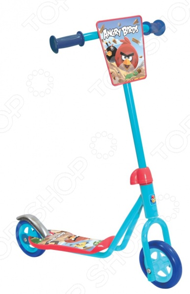 Самокат двухколесный 1 Toy Angry birds велосипед двухколесный navigator angry birds 14 2017