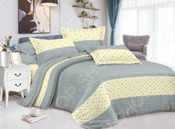 Комплект постельного белья «Уютный сон». Евро. Рисунок: лимонный стиль