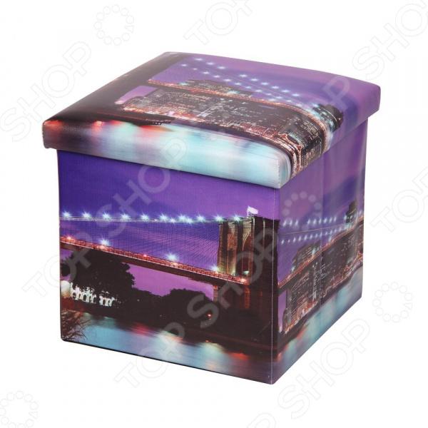 Пуф-короб для хранения Miolla Megapolis Night Bridge Miolla - артикул: 1699842
