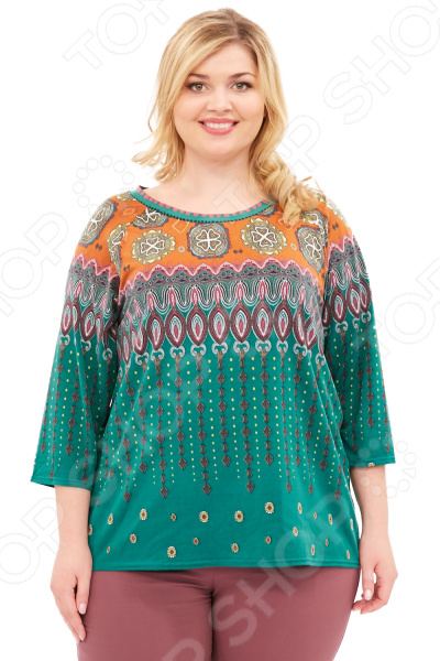 Блуза Элеганс «Амфора». Цвет: зеленый