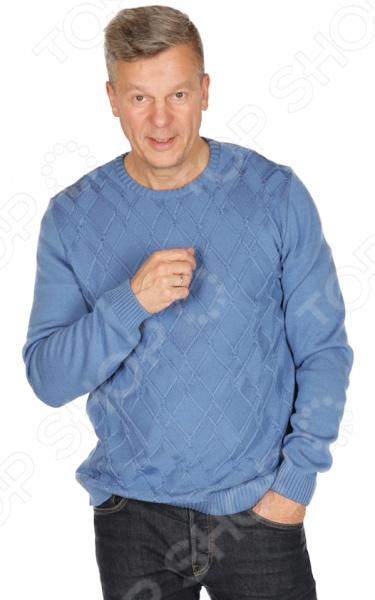 Джемпер VAY «Антуан». Цвет: голубой