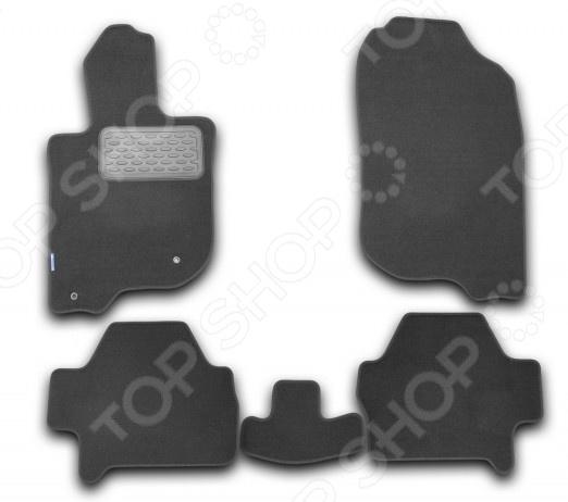 Комплект ковриков в салон автомобиля Novline-Autofamily Mitsubishi Pajero Sport 2008 внедорожник. Цвет: черный