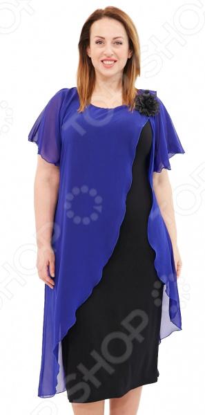 Платье Матекс «Загадочная незнакомка». Цвет: васильковый  туника матекс дыхание нежности цвет васильковый