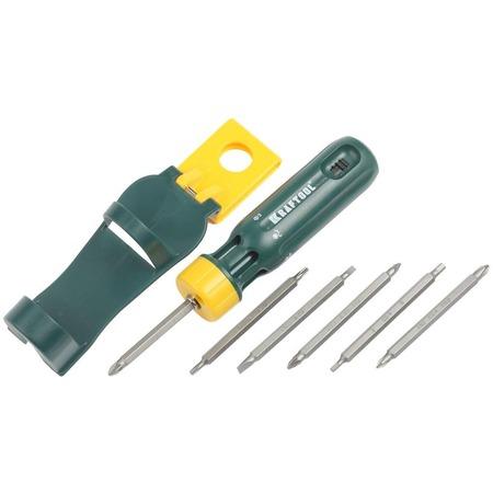 Купить Отвертка реверсивная с двусторонними битами Kraftool Bit-Lock 26160-H13