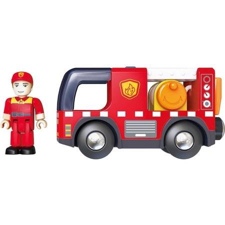 Купить Машинка игровая Hape «Пожарная машина с сиреной»