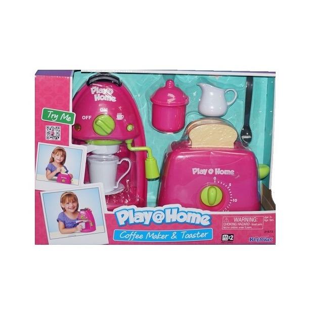 фото Игровой набор для девочки Keenway «Кофеварка и тостер»