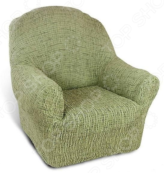 Zakazat.ru: Натяжной чехол на кресло Еврочехол «Плиссе. Фисташковый»