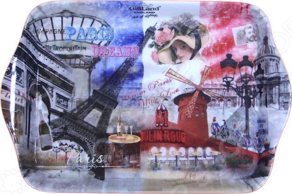 Поднос сервировочный Gift'n'home «Парижские фантазии» Gift'n'home - артикул: 1754289