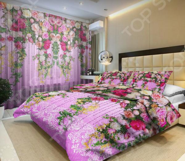Комплект постельного белья «Цветочная лоза». Евро - артикул: 944653