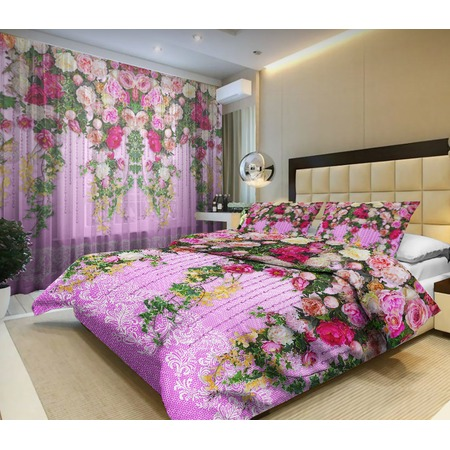 Комплект постельного белья «Цветочная лоза». Евро