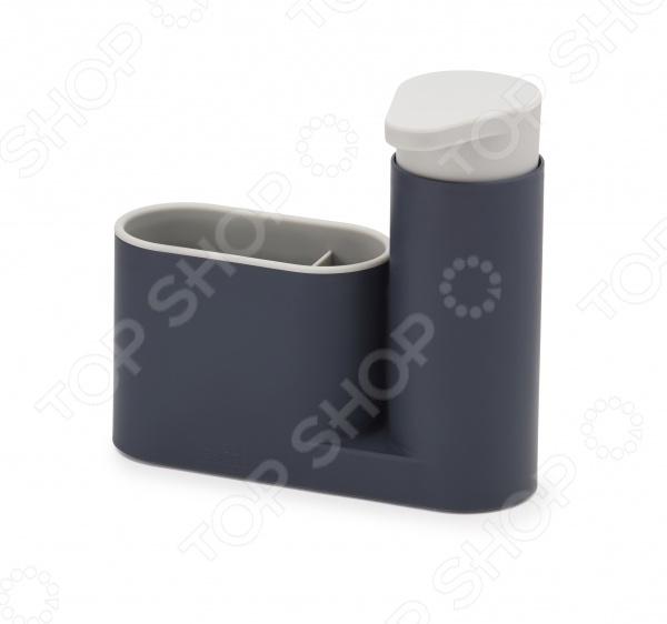 Органайзер для раковины с дозатором Joseph Joseph SinkBase великолепное дополнение к вашей кухонной утвари. С его помощью вы сможете правильно и гармоничного распределить, организовать пространство рядом с кухонной раковиной, где бывает скапливается всякая мелочь, будь-то губки для мытья посуды, щетки и бутылки с моющим средством. Теперь все средства для мытья можно хранит в одном месте! Органайзер состоит из удобного дозатора для жидкого мыла и подставки с двумя отделениями. Главным достоинством данной модели является её компактный и продуманный дизайн, благодаря которому её можно расположить даже на узкой стороне раковины. Чтобы изделие прослужило вам как можно дольше, его рекомендуется мыть только вручную.