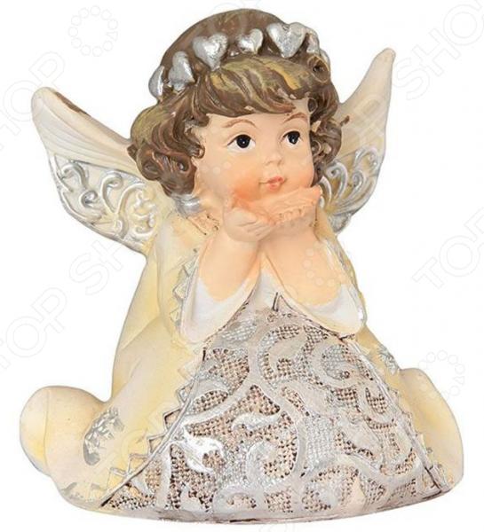 Фигурка декоративная Elan Gallery «Ангел с сердечками» фигурки elan gallery фигурка декоративная белка артистка