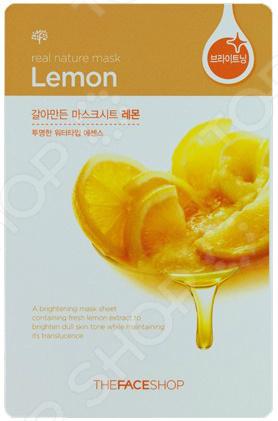 Маска тканевая для лица THE FACE SHOP Real Nature «Лимон» Маска тканевая для лица THE FACE SHOP Real Nature «Лимон» /