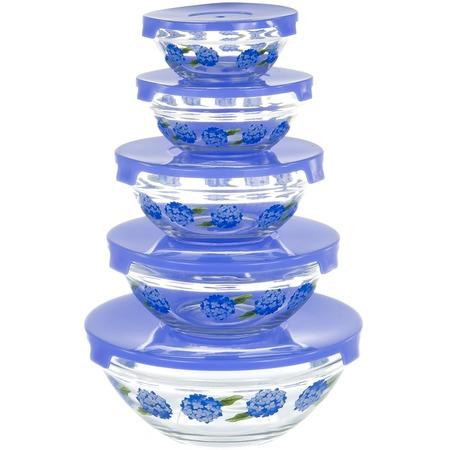 Купить Набор салатников OlAff «Фиолетовые цветы»