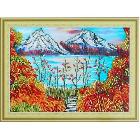 Купить Набор для творчества «Алмазная мозаика». Рисунок: «Горы в золоте»