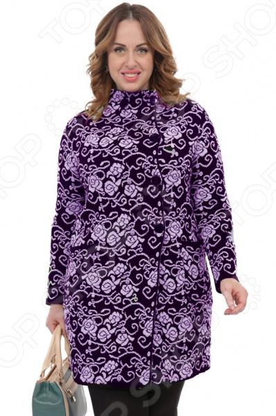 Кардиган Milana Style «Теплота и уют». Цвет: фиолетовый кардиган milana style milana style mi038ewvvy52