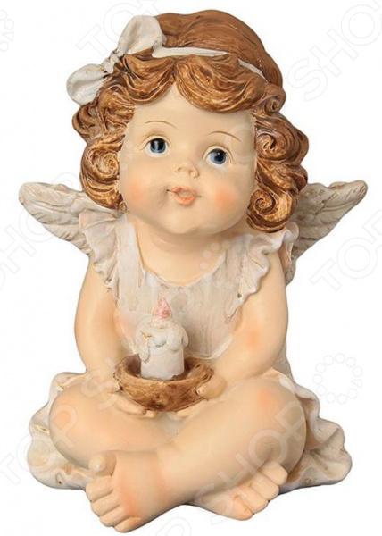 Фигурка декоративная Elan Gallery «Ангелочек со свечкой» фигурки elan gallery фигурка декоративная белка артистка