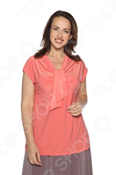 Блуза VEAS «Строгий лоск». Цвет: коралловый