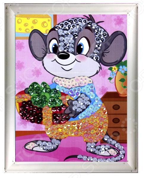 Мозаика из пайеток Азбука тойс «Мышка»