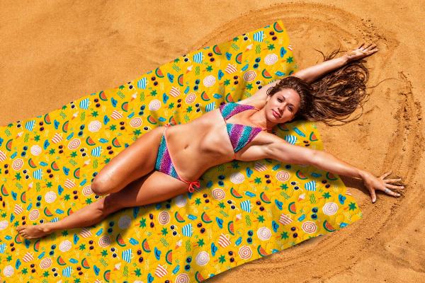 Покрывало пляжное Сирень «Летний отпуск»
