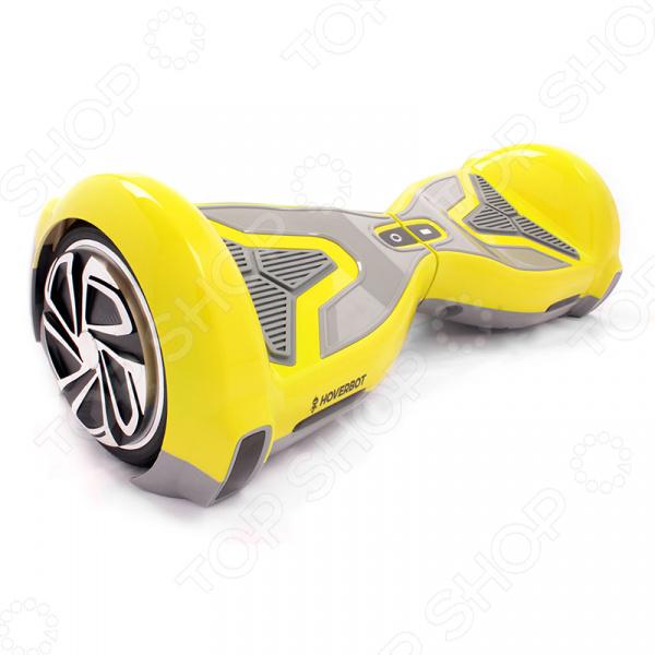 Решили сменить привычный скейтборд или роликовые коньки на что-нибудь более современное и оригинальное Тогда гироскутер Hoverbot A-15 идеальный выбор для вас. Это удивительное средство передвижения функционирует на основа электро мотора, а его платформа всегда поддерживается в уравновешенном положении за счет принципа динамической балансировки. Эта оригинальная доска свободно перемещается в любых направлениях, осуществляет развороты, не заваливаясь при этом набок.  Спорткар в миниатюре! Гироскутер A-15 от Hoverbot стильная современная модель, оснащенная мотором с повышенной мощностью и колесами диаметром 6,5 . Подходит для езды по ровной асфальтовой дороге. Его прочная рама способна выдерживать до 120 кг нагрузки. Яркий и красочный дизайн привлекает внимание. Выступы на корпусе не позволяют устройству опрокинуться.  Настройте под себя! Особенность этой модели гироскутера заключается в уникальном дополнении. Специальное мобильное приложение на вашем гаджете позволяет состоятельно настраивать устройство! Вы сможете легко изменить его скорость, дистанцию, мощность. Вам не нужно устанавливаться и менять настройки вручную, управление простое, интуитивно понятное!  Почему именно эта модель  Устройство предусматривает подключение к смартфону используя Bluetooth-передатчики.  Предусмотрена возможность воспроизведения аудиофайлов через Bluetooth.  Безопасная езда за счет педалей, покрытых нескользящим материалом.  Аккумуляторная батарея помещена в специальный кейс и дополнительно оснащена блоком для защиты от короткого замыкания.  Высокая степень влагозащиты делает катание возможным даже на влажных поверхностях.  Герметичный кейс для аккумуляторной батареи защищает ее от возгорания.  Гироскутер Hoverbot A-15 настоящая находка для тех, кто любит яркие и запоминающиеся прогулки!