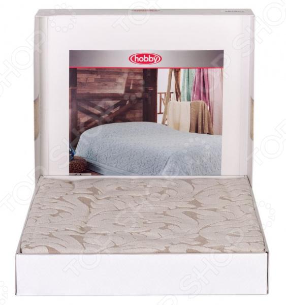 Покрывало махровое Hobby Home Collection Sultan. Цвет: кремовый