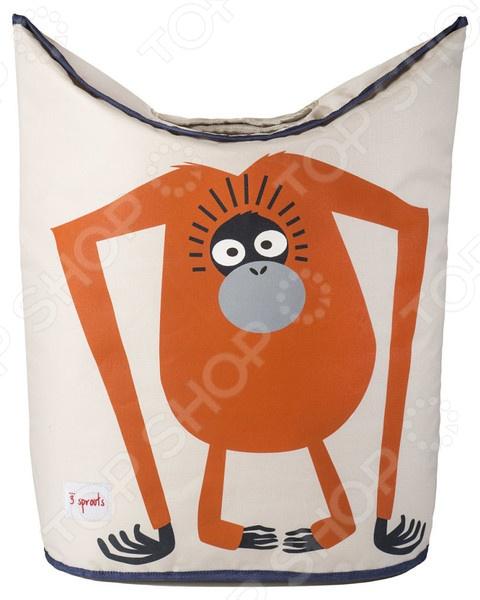 Zakazat.ru: Корзина для белья 3 Sprouts «Орангутанг»