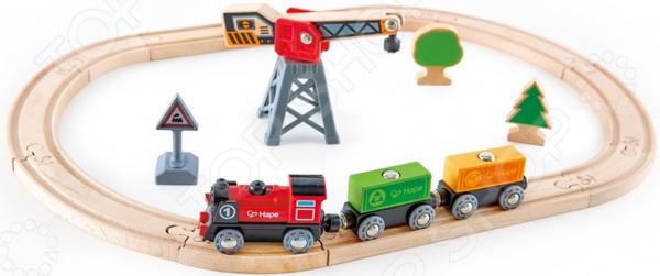 Игровой набор Hape «Железнодорожный узел. Доставка грузов»