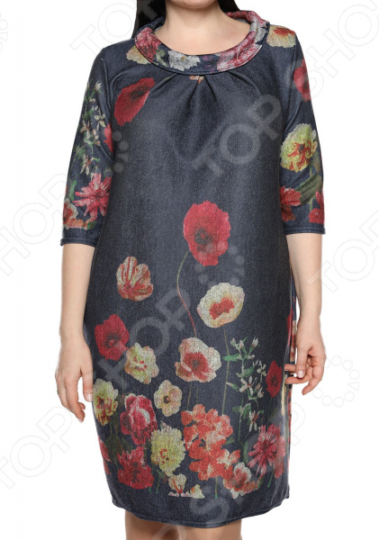 Платье Pretty Woman «Нежная симпатия». Цвет: синий ,красный