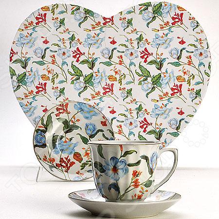 Чайный набор «Сердце красавицы». Рисунок: васильки. Уцененный товар монитор уцененный