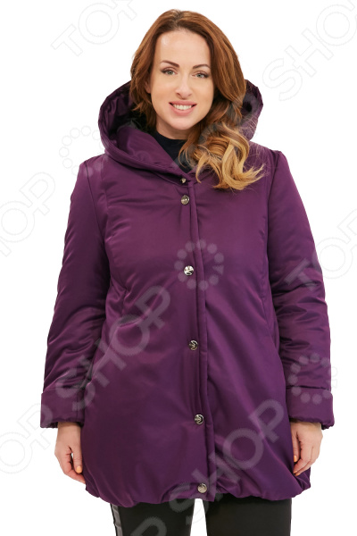 Куртка Гранд Гром «Зимняя ягода». Цвет: фиолетовый