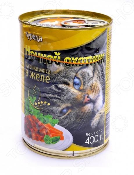 Корм консервированный для кошек Ночной охотник с курицей