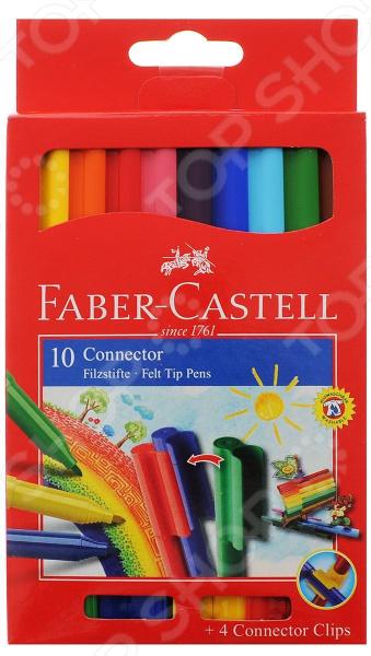 Набор фломастеров Faber-Castell Eberhard Faber 155510 eberhard faber краски для рисования на лице 4 цвета животные