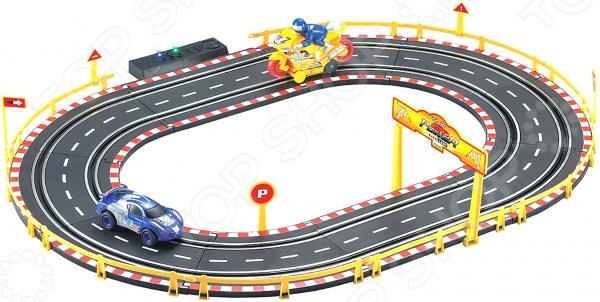 Трек гоночный 1 Toy Т10183 ecoiffier игровой набор конструктор гоночный трек 94 элемента