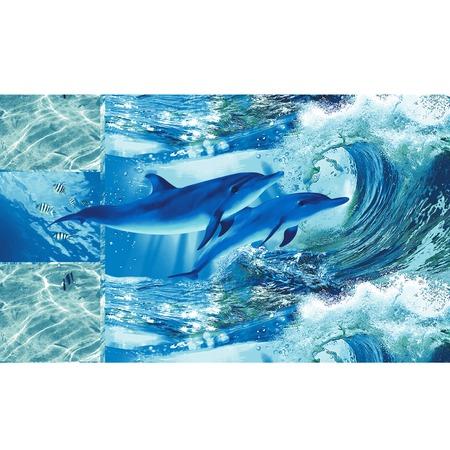 Купить Полотенце кухонное вафельное ТексДизайн «Дельфинарий»