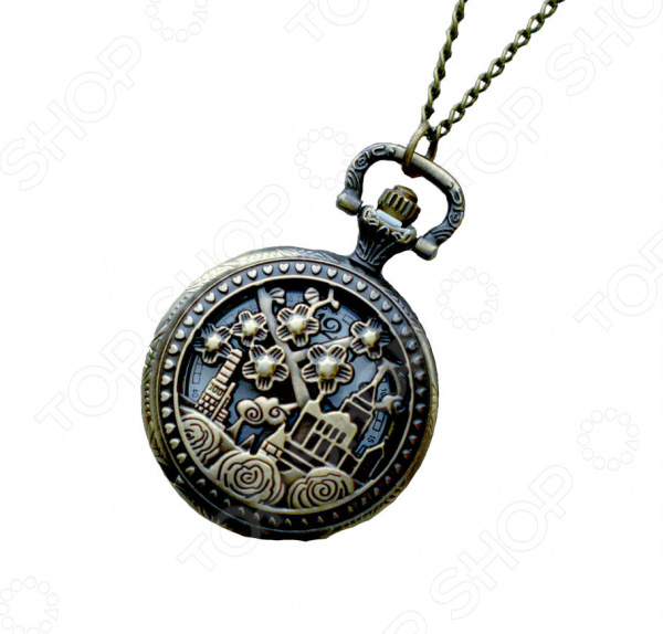 Кулон-часы Mitya Veselkov «Изумрудный город (средний)»